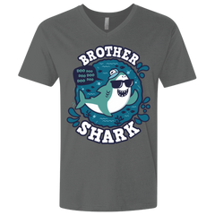 Shark Family trazo - Brother Men's Premium V-Neck