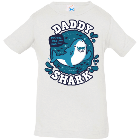 T-Shirts White / 6 Months Shark Family trazo - Daddy Infant Premium T-Shirt