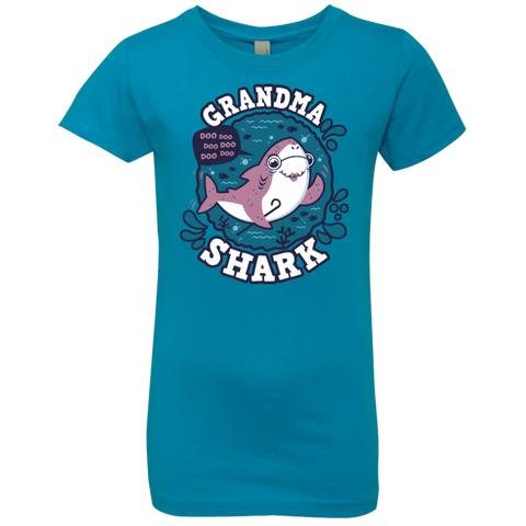 Shark Family trazo - Grandma Girls Premium T-Shirt