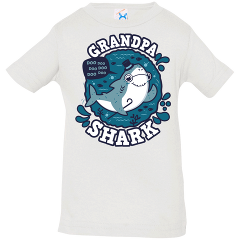 T-Shirts White / 6 Months Shark Family trazo - Grandpa Infant Premium T-Shirt