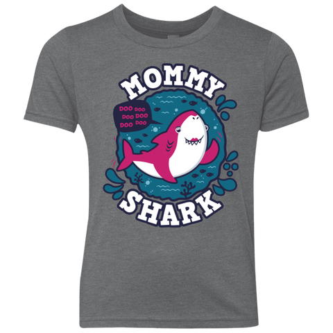 Shark Family trazo - Mommy Youth Triblend T-Shirt
