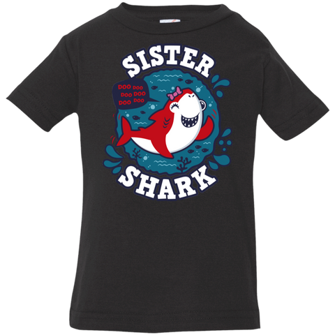 T-Shirts Black / 6 Months Shark Family trazo - Sister Infant Premium T-Shirt