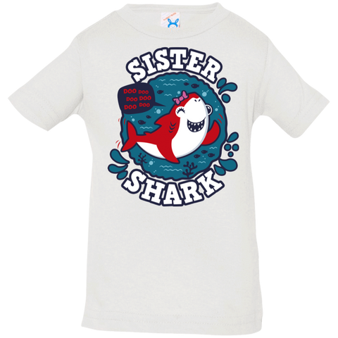 T-Shirts White / 6 Months Shark Family trazo - Sister Infant Premium T-Shirt