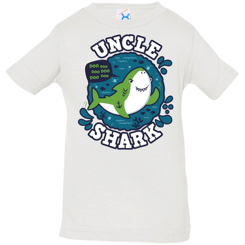 T-Shirts White / 6 Months Shark Family trazo - Uncle Infant Premium T-Shirt