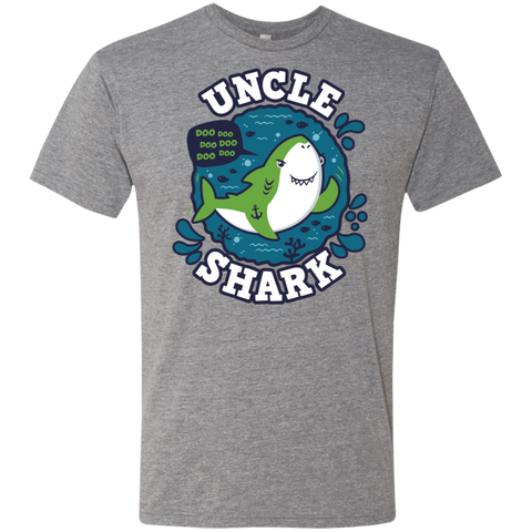 Shark Family trazo - Uncle Men's Triblend T-Shirt