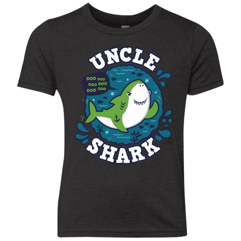 Shark Family trazo - Uncle Youth Triblend T-Shirt