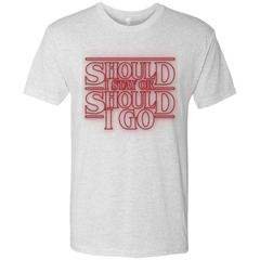 T-Shirts Heather White / Small Should I Stay Or Should I Go Men's Triblend T-Shirt