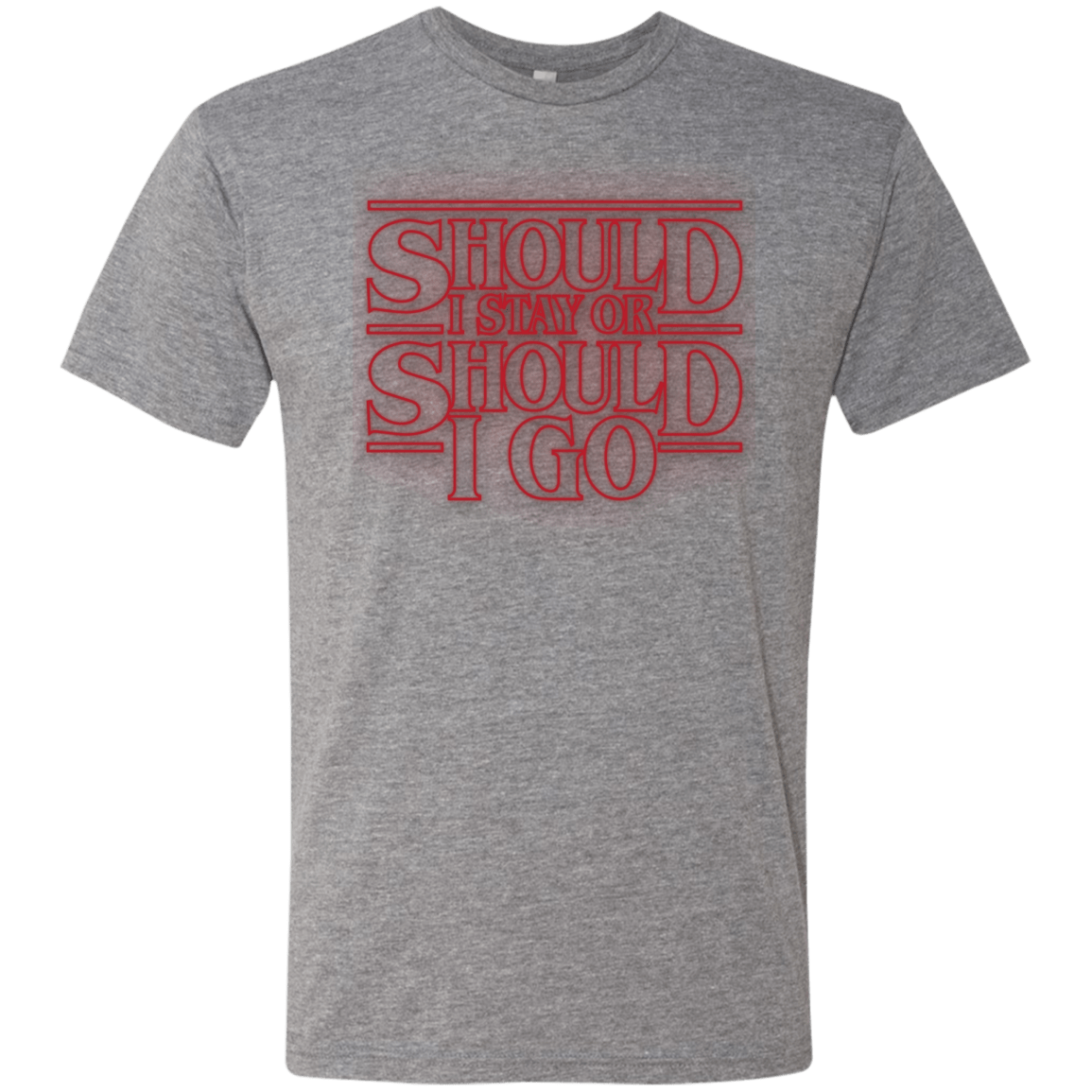 T-Shirts Premium Heather / Small Should I Stay Or Should I Go Men's Triblend T-Shirt