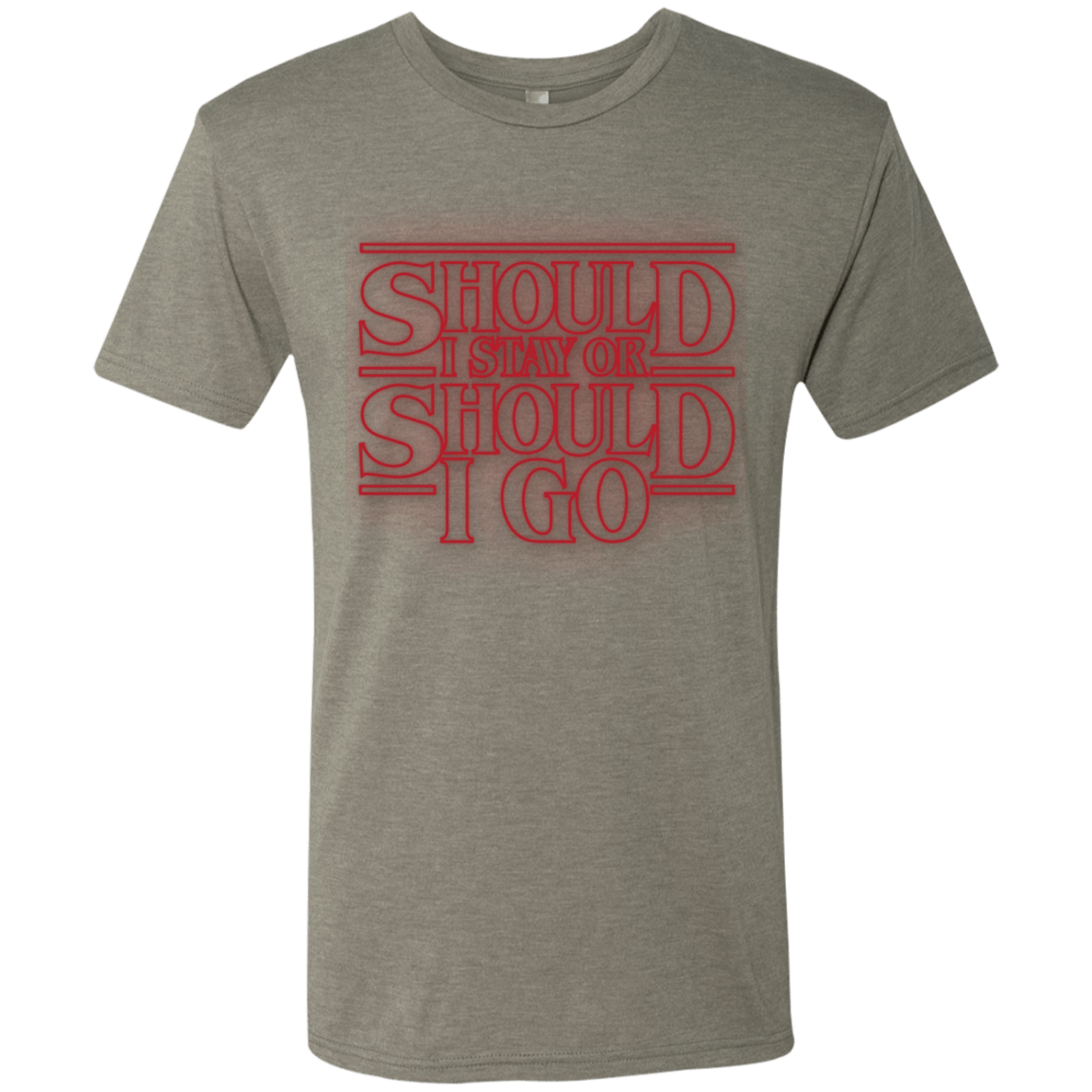 T-Shirts Venetian Grey / Small Should I Stay Or Should I Go Men's Triblend T-Shirt