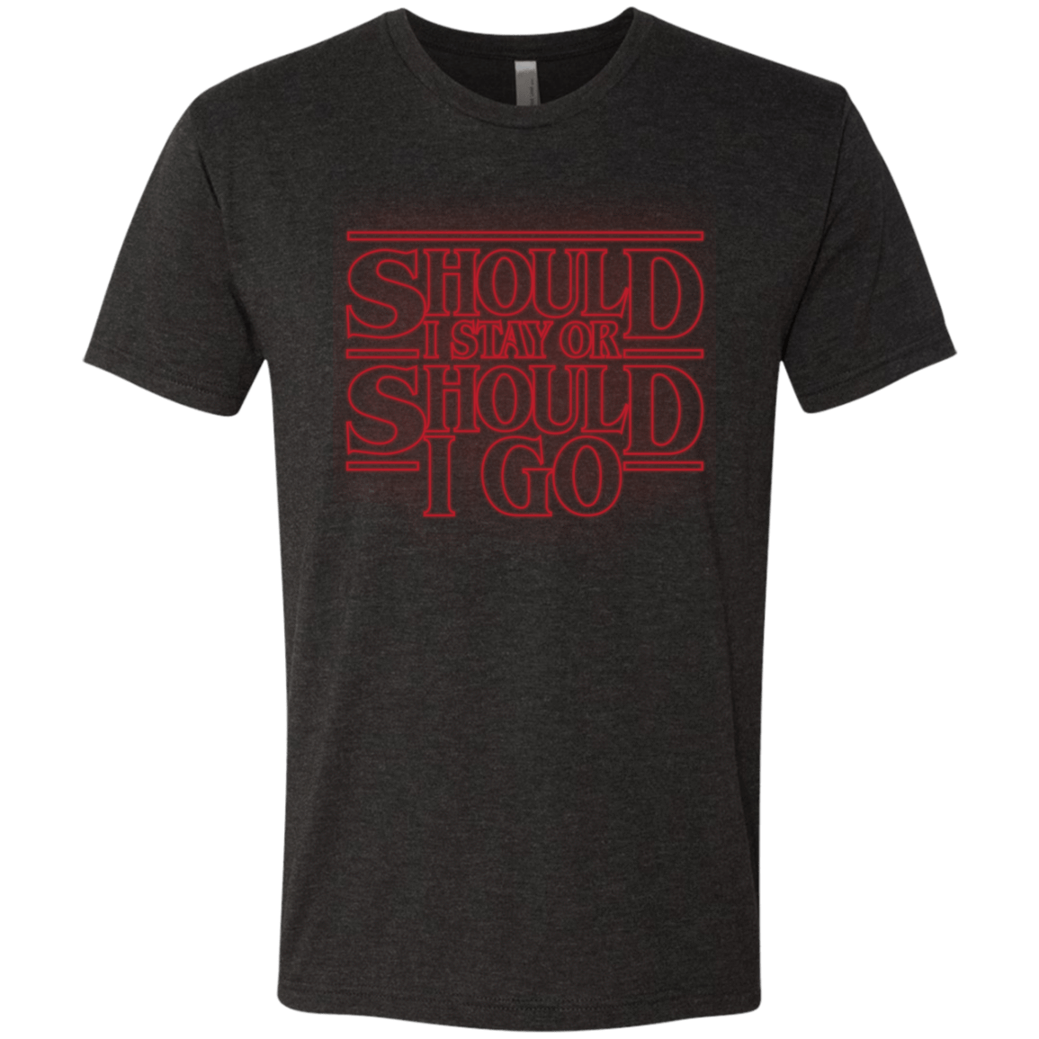 T-Shirts Vintage Black / Small Should I Stay Or Should I Go Men's Triblend T-Shirt