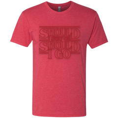 T-Shirts Vintage Red / Small Should I Stay Or Should I Go Men's Triblend T-Shirt