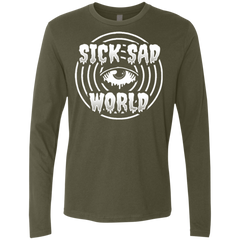 T-Shirts Military Green / Small Sick Sad World Men's Premium Long Sleeve