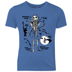 T-Shirts Vintage Royal / YXS Skeleton Concept Youth Triblend T-Shirt