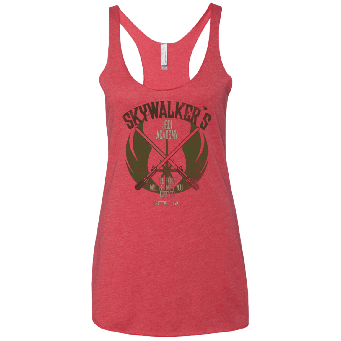 T-Shirts Vintage Red / X-Small Skywalker's Jedi Academy Women's Triblend Racerback Tank