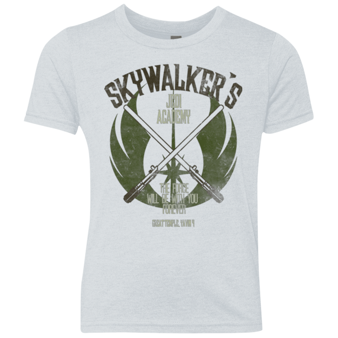 T-Shirts Heather White / YXS Skywalker's Jedi Academy Youth Triblend T-Shirt