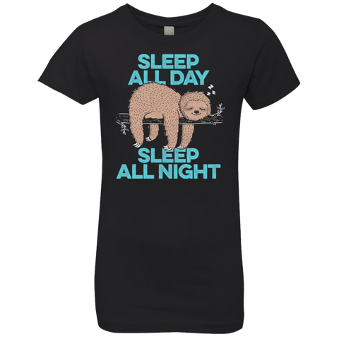 Sleep All Day All Night Girls Premium T-Shirt