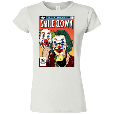 T-Shirts White / S Smile Clown Junior Slimmer-Fit T-Shirt