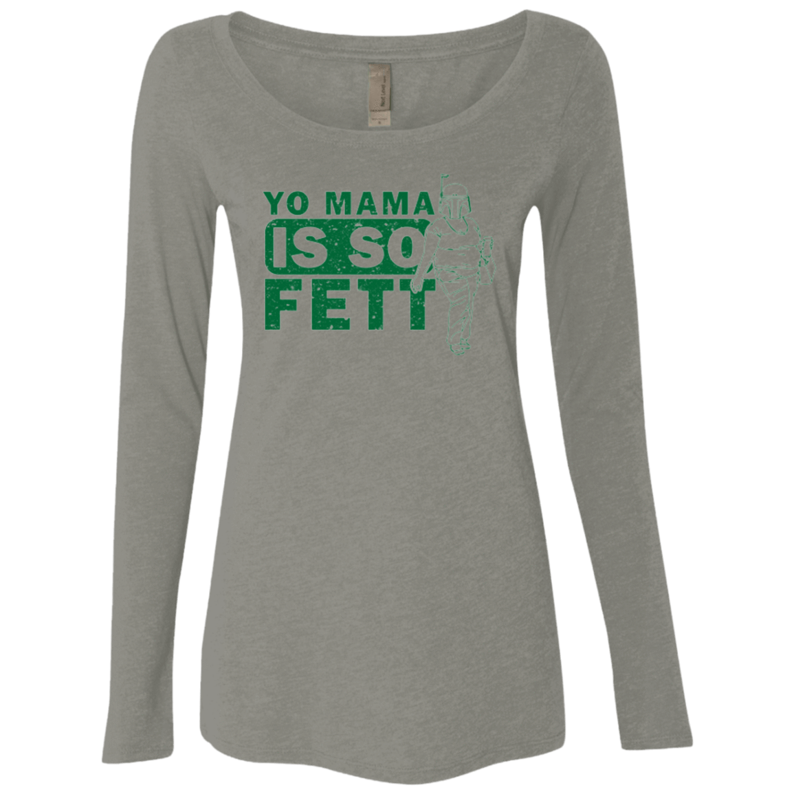 So Fett Women's Triblend Long Sleeve Shirt