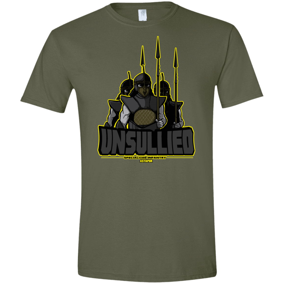T-Shirts Military Green / S Specialized Infantry Men's Semi-Fitted Softstyle
