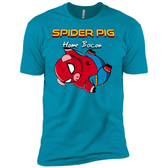 T-Shirts Turquoise / YXS Spider Pig Hanging Boys Premium T-Shirt