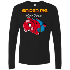 T-Shirts Black / Small Spider Pig Hanging Men's Premium Long Sleeve