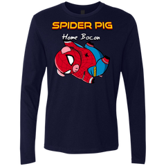 T-Shirts Midnight Navy / Small Spider Pig Hanging Men's Premium Long Sleeve