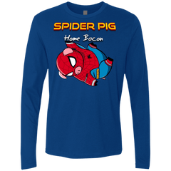 T-Shirts Royal / Small Spider Pig Hanging Men's Premium Long Sleeve