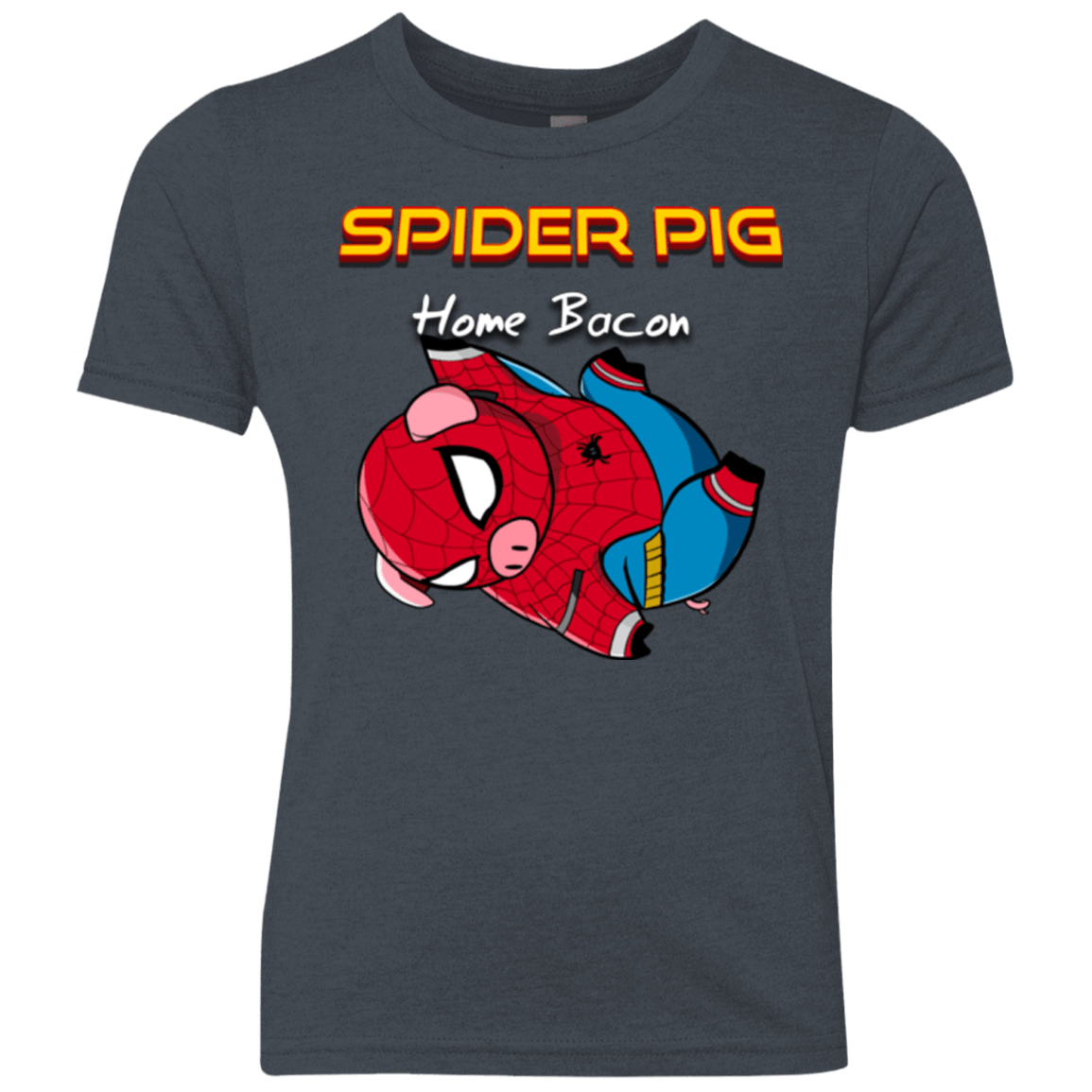 T-Shirts Vintage Navy / YXS Spider Pig Hanging Youth Triblend T-Shirt