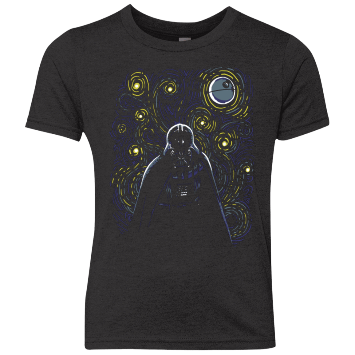 T-Shirts Vintage Black / YXS Starry Dark Side Youth Triblend T-Shirt