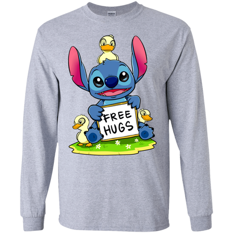 Stitch Hug Men's Long Sleeve T-Shirt