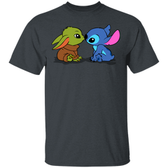 T-Shirts Dark Heather / S Stitch Yoda Baby T-Shirt