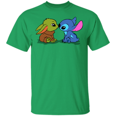 T-Shirts Irish Green / S Stitch Yoda Baby T-Shirt