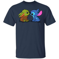 T-Shirts Navy / S Stitch Yoda Baby T-Shirt