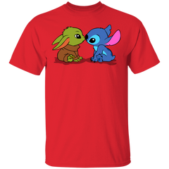 T-Shirts Red / S Stitch Yoda Baby T-Shirt