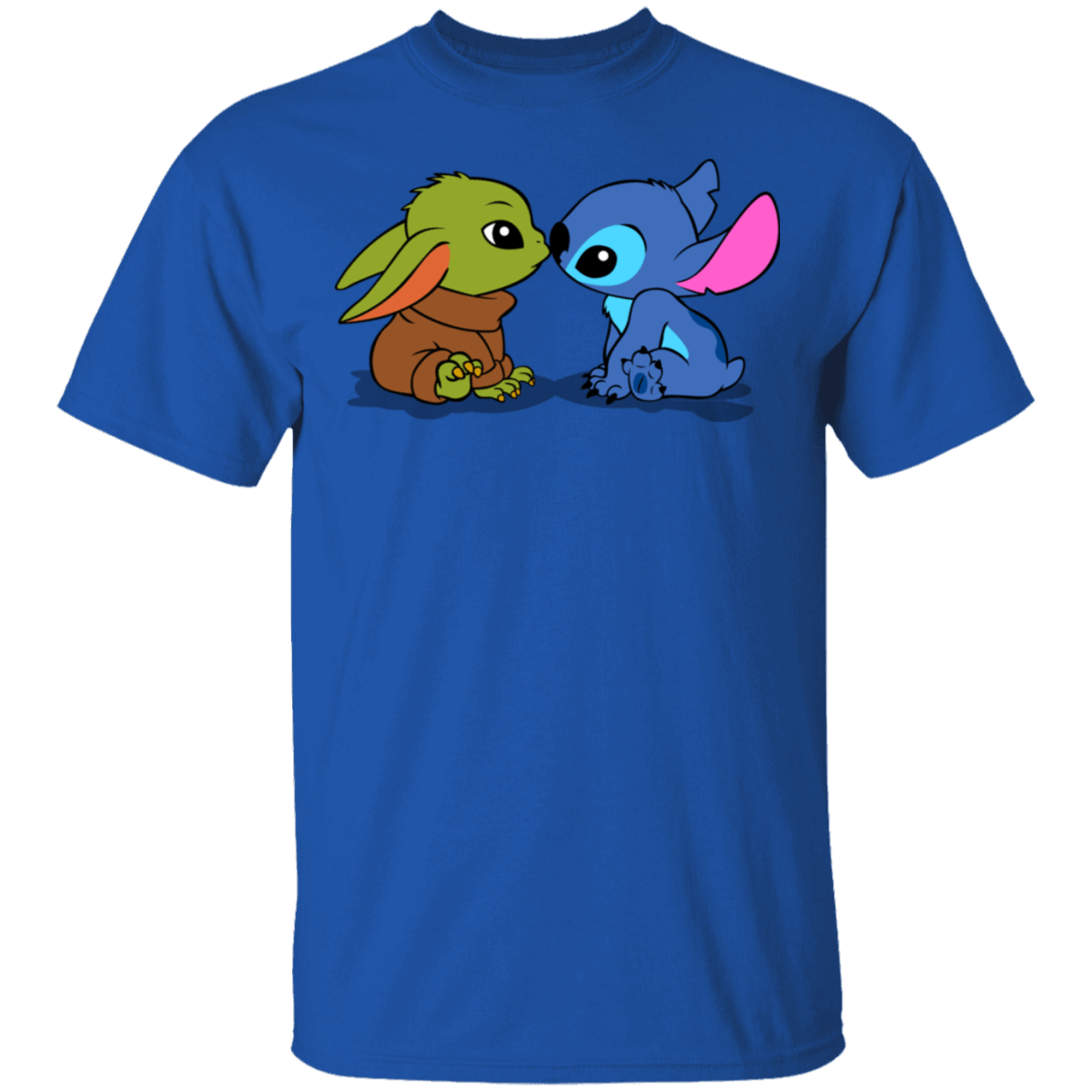 T-Shirts Royal / S Stitch Yoda Baby T-Shirt
