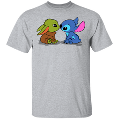 T-Shirts Sport Grey / S Stitch Yoda Baby T-Shirt