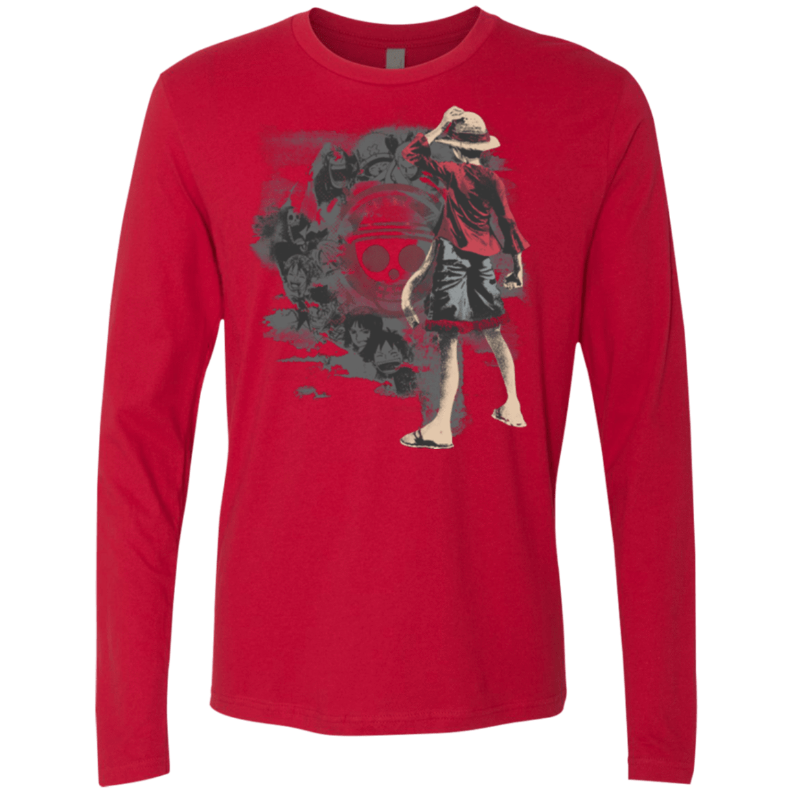 T-Shirts Red / Small Straw hats Men's Premium Long Sleeve