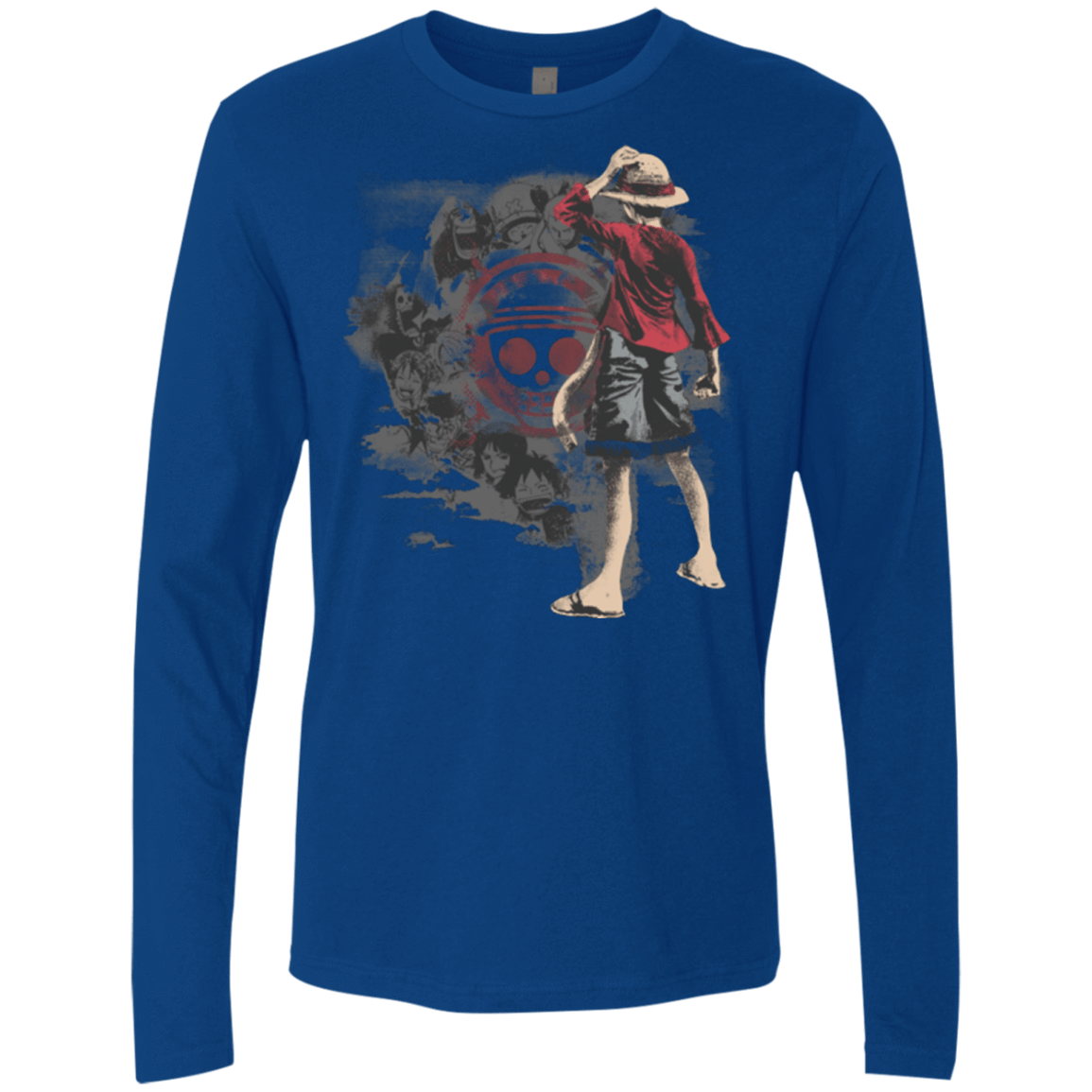 T-Shirts Royal / Small Straw hats Men's Premium Long Sleeve