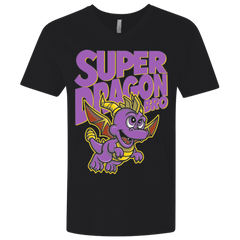 T-Shirts Black / X-Small Super Dragon Bros Men's Premium V-Neck