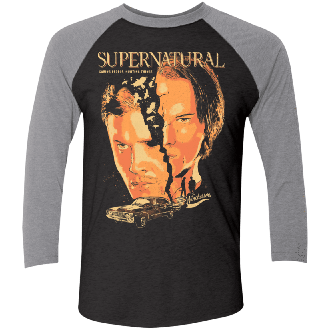 Supernatural Men's Triblend 3/4 Sleeve