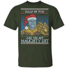 T-Shirts Forest / S Thanos Naughty List T-Shirt