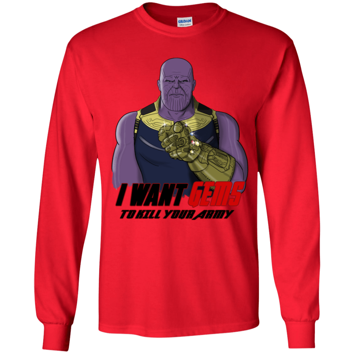 T-Shirts Red / YS Thanos Sam Youth Long Sleeve T-Shirt