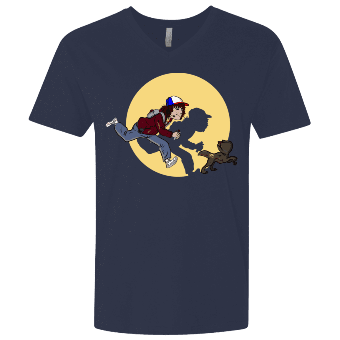 T-Shirts Midnight Navy / X-Small The Adventures of Dustin Men's Premium V-Neck