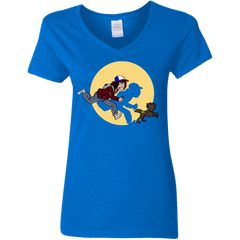 T-Shirts Royal / S The Adventures of Dustin Women's V-Neck T-Shirt