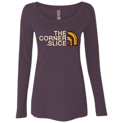 The Corner Slice Women's Triblend Long Sleeve Shirt
