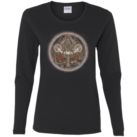 T-Shirts Black / S The Cthulhu Runes Women's Long Sleeve T-Shirt