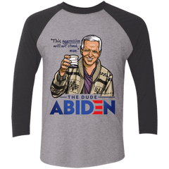 T-Shirts Premium Heather/Vintage Black / S The Dude Abiden Men's Triblend 3/4 Sleeve