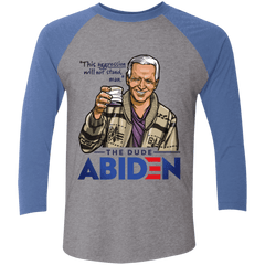 T-Shirts Premium Heather/Vintage Royal / S The Dude Abiden Men's Triblend 3/4 Sleeve