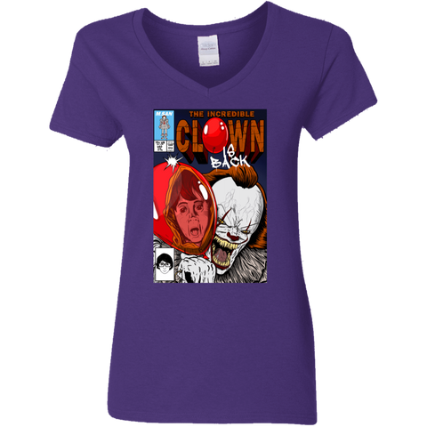 The Incredible Clown Women's V-Neck T-Shirt