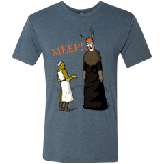 T-Shirts Indigo / Small The Knight Who Says MEEP Men's Triblend T-Shirt